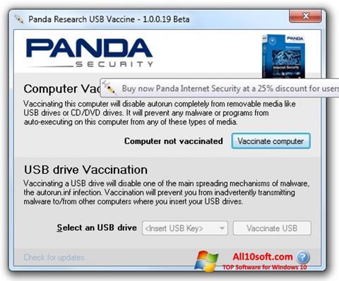 Screenshot Panda USB Vaccine Windows 10