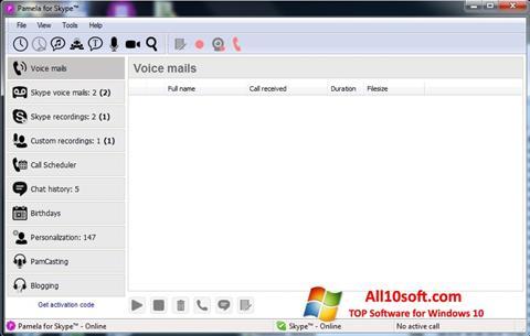 Screenshot Pamela for Skype Windows 10
