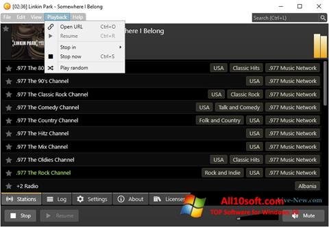 Screenshot Screamer Radio Windows 10