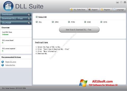 Screenshot DLL Suite Windows 10