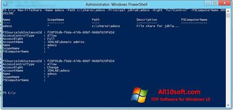 Screenshot Windows PowerShell Windows 10